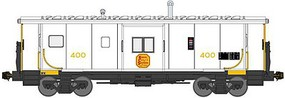 Bluford International Car Bay Window Caboose Phase 4 - Ready to Run Kansas City Southern 406 (white, yellow) - N-Scale