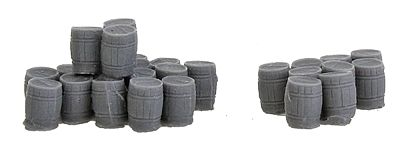 Bar Mills Assorted Wooden Kegs 2 Large Groups -- N Scale Model Railroad Building Accessory -- #1003