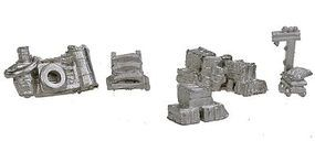 Bar-Mills Assorted Street Stuff - Unpainted - 5 Pieces - N Scale Model Railroad Building Accessory #1005