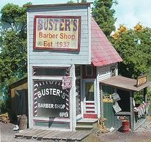 Bar-Mills Busters Barber Shop - Laser-Cut Wood Kit O Scale Model Railroad Building #164