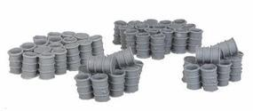 Bar-Mills Open 55-Gallon Drum Stacks - Unpainted HO Scale Model Railroad Building Accessory #2001