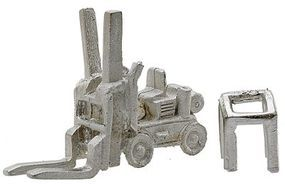 Bar-Mills Forklift - Kit - Unpainted HO Scale Model Railroad Building Accessory #2006