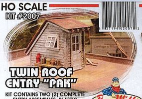 Bar-Mills Roof Entries - Kit - pkg(2) HO Scale Model Railroad Building Accessory #2007
