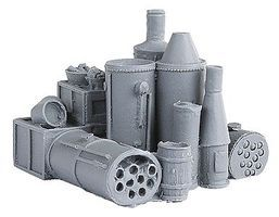 Bar-Mills Boiler Heaven - Unpainted HO Scale Model Railroad Building Accessory #2010
