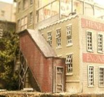 Bar-Mills Covered Stairwells Laser-Cut Wood Kits N Scale Model Railroad Building Accessory #305