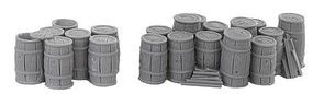 Bar-Mills Clusters of Kegs - Unpainted Resin Castings O Scale Model Railroad Building Accessory #4009