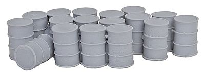 Bar Mills 55-Gallon Drums w/Closed Tops - Unpainted -- O Scale Model Railroad Building Accessory -- #4017