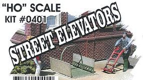 Bar-Mills Street Elevator Sets (Photo-Etched Metal Kit) HO Scale Model Railroad Building Accessory #401