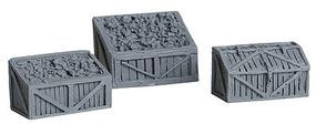 Bar-Mills Coal Bins & Tool Chest - Unpainted pkg(3) O Scale Model Railroad Building Accessory #4020