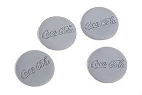 Bar-Mills Button-Style Soda Signs - Unpainted pkg(4) O Scale Model Railroad Building Accessory #4023