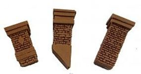Bar-Mills Aged Chimney Selection 3pk O Scale Model Railroad Building Accessory #4032