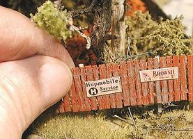 Bar-Mills Insta-Fence - Kit - Approximately 120 Scale Feet O Scale Model Railroad Building #44