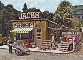 Bar-Mills Jacks Backyard - Laser-Cut Wood Kit HO Scale Model Railroad Building #542