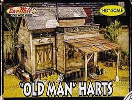 Bar-Mills Old Man Harts - Kit - 7-1/2 x 8-1/2 19.1 x 21.6cm HO Scale Model Railroad Building #555