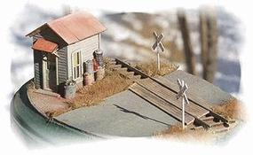 Bar-Mills Twin Crossing Shacks (2) HO Scale Model Railroad Building #792