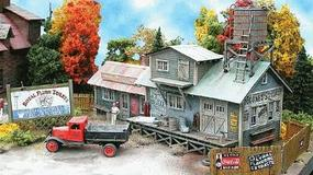 Bar-Mills Mooneys Plumbing Emporium - Laser-Cut Wood Kit N Scale Model Railroad Building #821