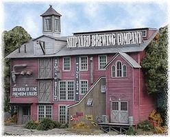 Bar-Mills Shipyard Brewing Company - Kit HO Scale Model Railroad Building #852