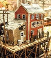 Bar-Mills Waterfront Willys/Trackside Jacks - Kit HO Scale Model Railroad Building #922