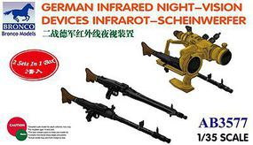 Bronco German Night-Vision Device Infrarot-Scheinwerfer Plastic Model Military Diorama 1/35 #03577