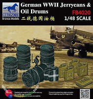 Bronco WWII German Jerry Cans/Fuel Drums Plastic Model Military Diorama 1/48 Scale #04020