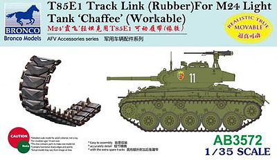 Bronco Models T85E1 Track Link Rubber M24 -- Plastic Model Vehicle Accessory -- 1/35 Scale -- #3572