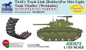 Bronco T85E1 Track Link Rubber M24 Plastic Model Vehicle Accessory 1/35 Scale #3572