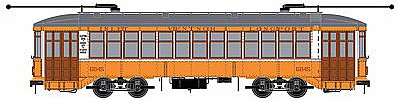 Bowser Manufacturing Co. 2-Truck Streetcar Executive Line Atlantic City #6845 -- HO Scale Trolley and Hand Cars -- #12816