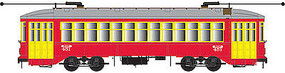 Bowser New Orleans Streetcar with Sound red 451 HO Scale Model Train Streetcar #12843
