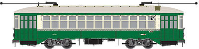 Bowser Manufacturing Co. Hog Island Streetcar PTC #4126 -- HO Scale Model Train Streetcar -- #12845