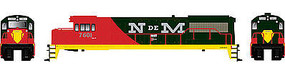 Bowser GE U25B DC -Nacionales de Mexico #7601 HO Scale Model Train Diesel Locomotive #23837