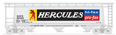 Bowser Manufacturing Co. Cylindrical Covered Hopper Hercules#60307 -- N Scale Model Train Freight Car -- #37692