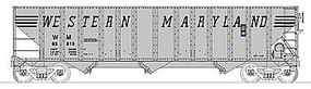 Bowser 100-Ton 3-Bay Open Hopper Western Maryland #63815 HO Scale Model Train Freight Car #40355