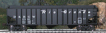 Bowser Manufacturing Co. 14-Panel Hopper Denver & Rio Grande Western #3 -- HO Scale Model Train Freight Car -- #40393