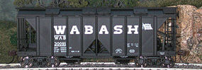 Bowser 70-Ton 2-Bay Covered Hopper Wabash #3 HO Scale Model Train Freight Car #40405