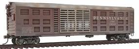 Bowser K-9 Stock Car Silver Roof & Doors Pennsylvania #130547 HO Scale Model Train Freight Car #40457