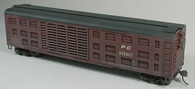 Bowser K-9 Stock Car, Black Roof Penn Central #375402 HO Scale Model Train Freight Car #40460