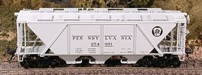 Bowser H30 Covered Hopper Pennsylvania Railroad HO Scale Model Train Freight Car #40944
