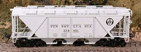 Bowser H30 Covered Hopper Pennsylvania Railroad HO Scale Model Train Freight Car #40946