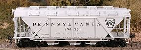 Bowser H30 Covered Hopper Pennsylvania Railroad HO Scale Model Train Freight Car #40952