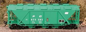 Bowser H30 Covered Hopper Penn Central HO Scale Model Train Freight Car #40980