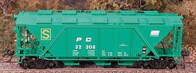 Bowser H30 Covered Hopper Penn Central HO Scale Model Train Freight Car #40986
