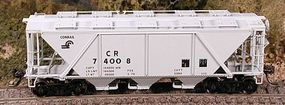 Bowser H30 Covered Hopper Conrail HO Scale Model Train Freight Car #40996