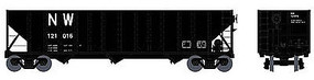 Bowser 100-Ton 3-Bay Open Hopper Norfolk & Western #121016 HO Scale Model Train Freight Car #41022