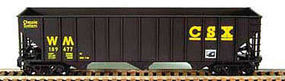 Bowser 100 Ton Hopper Western Maryland #188302 HO Scale Model Train Freight Car #41173