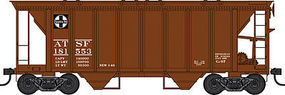 Bowser 70 ton 2 bay Hopper ATSF #181590 HO Scale Model Train Freight Car #41310