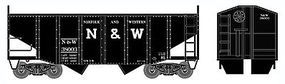 Bowser 55-Ton Fishbelly 2-Bay Open Hopper Norfolk & Western HO Scale Model Train Freight Car #41406