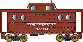 Bowser N5c Caboose Pennsylvania RR #477842 HO Scale Model Train Freight Car #41427