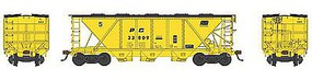 Bowser H30 Covered Hopper Penn Central #33809 HO Scale Model Train Freight Car #41455