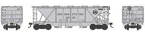 Bowser H30 Covered Hopper Pennsylvania RR #254375 HO Scale Model Train Freight Car #41458