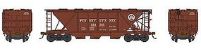 Bowser H30 Covered Hopper Pennsylvania RR #254355 HO Scale Model Train Freight Car #41460
